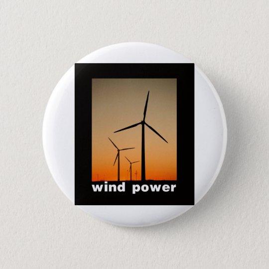 Wind Power design! Pinback Button
