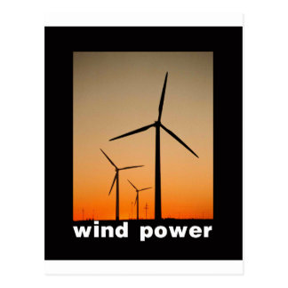 Wind Power design! Postcard