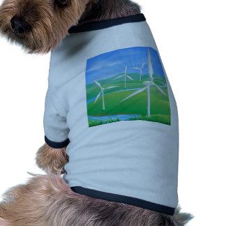Wind power energy illustration pet t-shirt