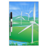 Wind power energy illustration Dry-Erase boards
