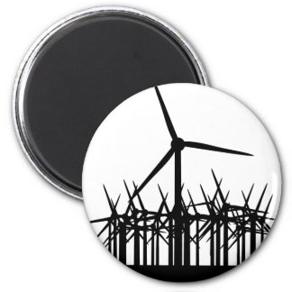 wind power environment 2 inch round magnet