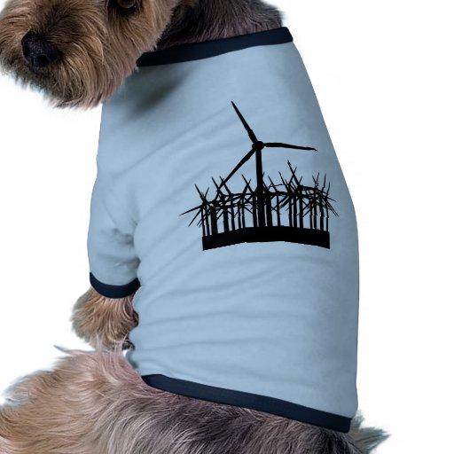 wind power environment pet shirt