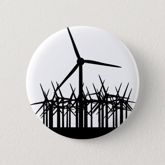 wind power environment pinback button