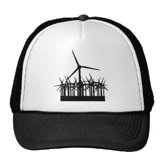wind power environment trucker hat