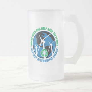 Wind Power Frosted Glass Beer Mug