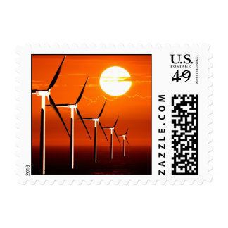 Wind Power Green Energy Alternative Wind Farm Sun Postage