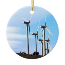 Wind Power Mojave Tehachapi Wind Farm Ceramic Ornament