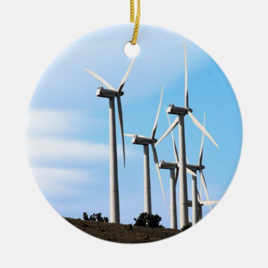 Wind Power Mojave Tehachapi Wind Farm Ceramic Ornament