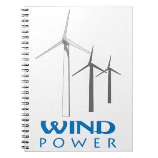 WIND POWER SPIRAL NOTE BOOK