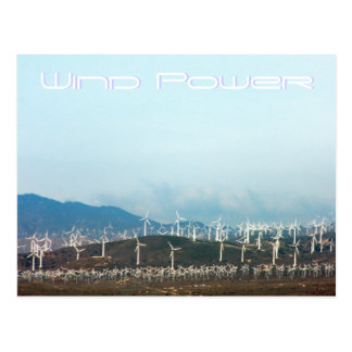 Wind Power Post Card