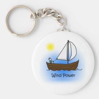 Wind Power Sailboat - Keychain