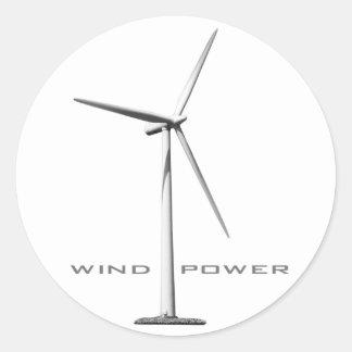 Wind Power (set of 6/20) Classic Round Sticker