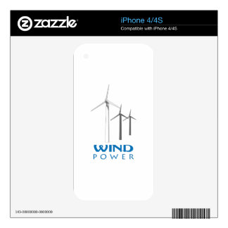 WIND POWER DECAL FOR THE iPhone 4S