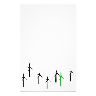 wind power stationery (black with green)
