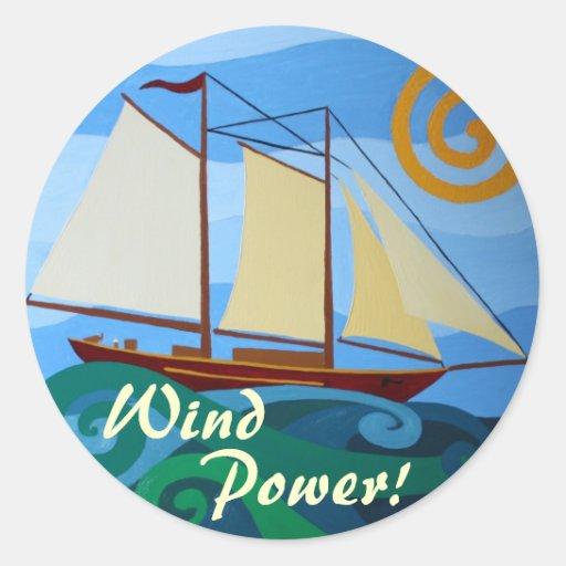 Wind Power Stickers