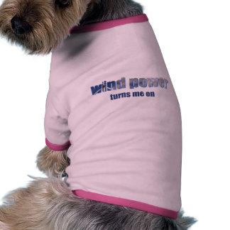 Wind Power Turns! Pet Shirt