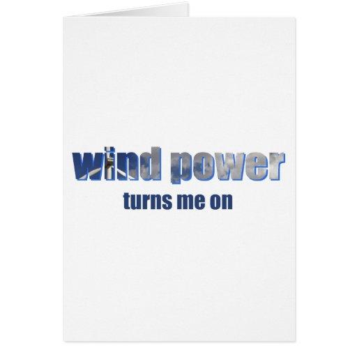 Wind Power Turns! Greeting Card