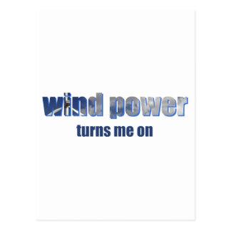 Wind Power Turns! Postcard