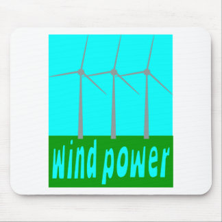 Wind Power With Turbines And Sky Mouse Pad