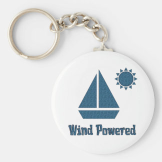 Wind Powered Basic Round Button Keychain