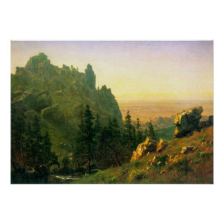Wind River Country by Bierstadt Poster