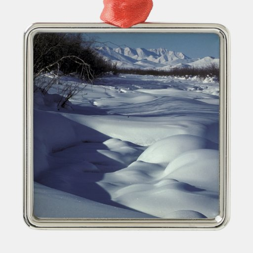 Wind River in Winter Christmas Ornament