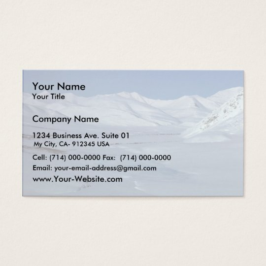 Wind River Mountains Business Card