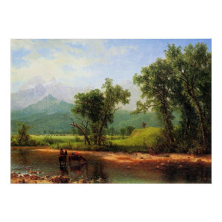 Wind River Mountains by Bierstadt Poster