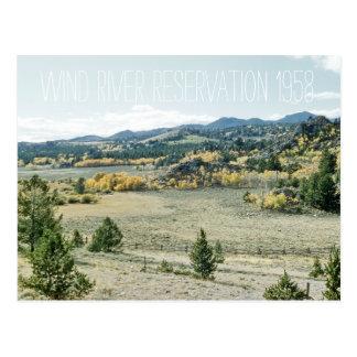 Wind River Reservation 1958 Wyoming Landscape Postcard