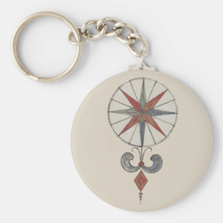 Wind rose 1 keychain