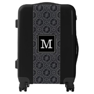Wind Rose Compass Pattern | Add Your Initial Luggage