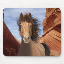"""Wind Runner"" Wild Stallion Horse mousepad"