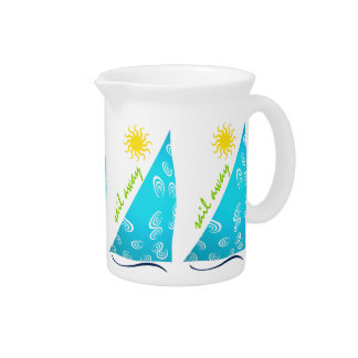 Wind, Sail and Sun Beverage Pitcher