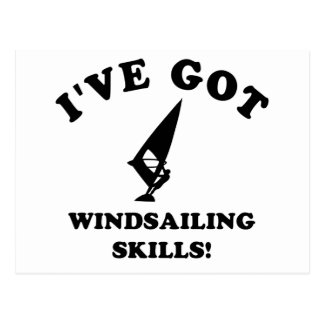 Wind Sailing designs and gift items Postcard