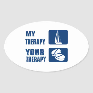 Wind Sailing designs and gift items Oval Sticker