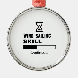 Wind Sailing skill Loading...... Metal Ornament