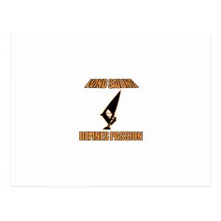 wind sailing  sports designs postcard