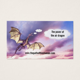 Wind Sky Shaman Air Dragon Business Card