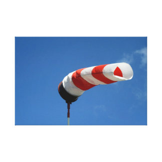 Wind sock at the airfield stretched canvas prints