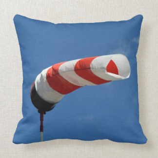 Wind sock at the airfield throw pillow