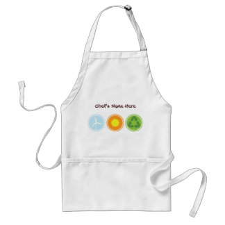 Wind Solar Recycle Organic Planet Aprons