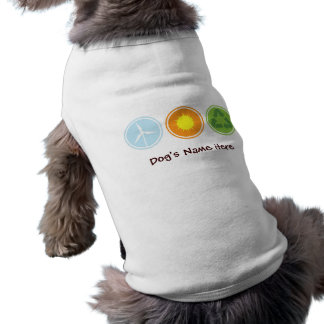 Wind Solar Recycle Organic Planet Dog Shirts Dog T Shirt
