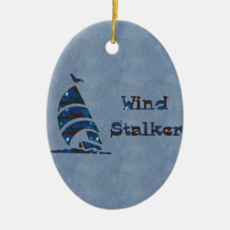 Wind Stalker Double-Sided Oval Ceramic Christmas Ornament