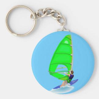 Wind Surfer Keychain