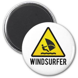 Wind surfer magnet