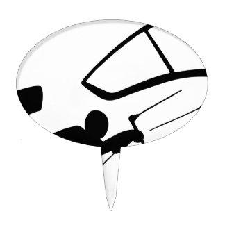 Wind Surfer Silhouette Cake Topper
