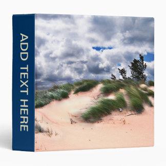 Wind Swept Sand Dunes 3 Ring Binder