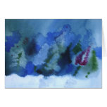wind swept trees greeting card