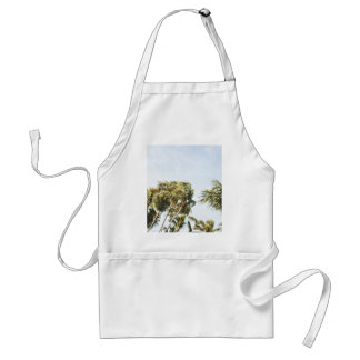 Wind Themed, A Bunch Of Plam Trees Blown By With S Adult Apron