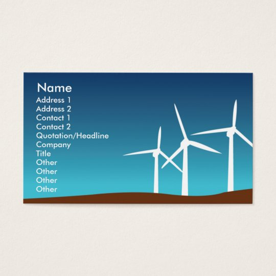 Wind Towers - Business Business Card